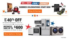 Home Depot Coupons Electrical Appliances, Home Appliances, Home Depot Coupons, Military Discounts, Printable Coupons, Large Homes, Red White Blue, Home Improvement, Coding