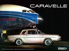 PLAQUE METAL 40X30cm PUB RETRO RENAULT CARAVELLE