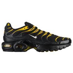 a6df8dd93 Nike Air Max Plus - Boys Grade School Shoes Black White Vivid Sulphur