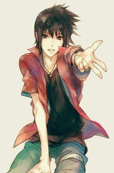 Sasuke. Be still my heart. I'm hardly breathing. Monsieur Sasuke, oh, he's so cute!