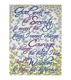 12X16 14Ct-Serenity Prayer Ccx