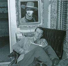 I've loved reading all my life, I spent hours alone , lost in the libraries of California. John Wayne