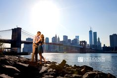 Dumbo Brooklyn Engagement Photos | Allie