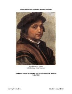 The Italian Renaissance painter Andrea del Sarto is featured in this eight page story edited for the classroom. $