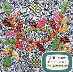Les Fleurs du Mardi - Bloc The Tuesday Flowers - Block 6 Applique Patterns, Applique Quilts, Embroidery Applique, Quilt Patterns, Cute Quilts, Mini Quilts, Motifs D'appliques, Bright Quilts, Reverse Applique