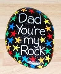 father's day stone rock pebble