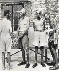 Victims of cruel Japanese prison camps. Nederlands-Indië in WWII