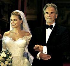 Trevor Eve giving away daughter Alice Eve at her wedding, 31st December 2014. (Hello Magazine)