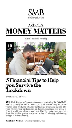 The recent announcement of the lockdown extension. Many of us are worried about the financial implications and long term job security. Financial Tips, Financial Planning, Job Security, Money Matters, Economics, Personal Finance, Outline, No Worries, Announcement