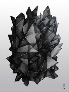 Bling Bling! Sobre um fascínio por triângulos (desenho a lápis)