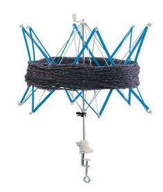 Yarn Swift, Schacht Light Duty Swift, Ball Winder, Blue, Plastic and Metal, Adjustable Umbrella Swift, Table Clamp, Up to 60 Inch Skeins by PhoenixFarmFiber on Etsy