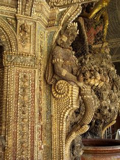 Sculptures made from shells, Grotto court, Residenz palace, Munich by j.labrado, via Flickr