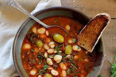 Lima Bean Stew with Olives, Tomatoes, and Kale