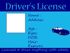 Great template for creating any type of license...such as a license to roll for a senior using a rollator!