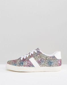 ASOS DANCING QUEEN Glitter Sneakers - Multi