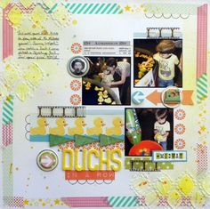 Ideas for Borders, Seams and Edging on  Your Scrapbook Page | Scrapbook Page by Ashley Horton | GetItScrapped.com/blog