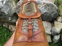 Rattlesnake Leather Back Quiver Traditional Archery | eBay