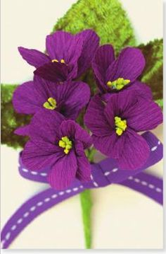 violet (crepe paper)