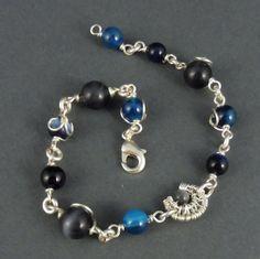 Agate Bracelet of Silverwire  Luna by Kieritivity on Etsy