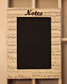 """Musical gifts: chalkboard for """"notes""""!"""