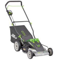 Earthwise Cordless 40-volt Lithium Ion 20-inch Lawn Mower, Black (Assembly Hardware) #60418