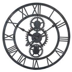 Zwarte metalen TEMPS MODERNES klok D ...