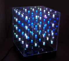 Hypnocube Animated LED Cube Give It A Glance And Relax -  #3d #LED #lightshow #rave