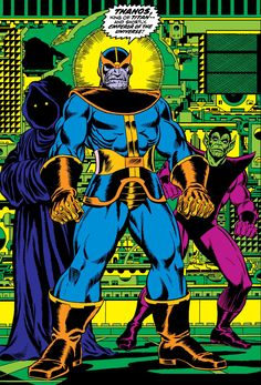 Marvel Masterworks and more! — Thanos early appearance art by Jim Starlin, Marvel Comics, Cosmic Comics, Dc Comics Art, Marvel Vs, Captain Marvel, Best Marvel Villains, Jim Starlin, Marvel Masterworks, Marvel Entertainment