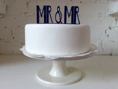 Mr  Mr Civil Partnership / Gay Wedding Cake by MissSarahCake, £12.99