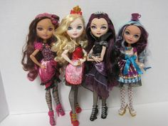 Ever After High Dolls All   all four dolls, I thought it would be fun to get some pics of them all ...