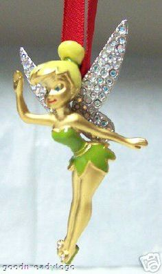 Disney Tinker Bell Swarovski Christmas Ornament LE 2004 New $149.99