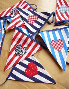 Red, White & Blue, Olympic, Heart Bunting