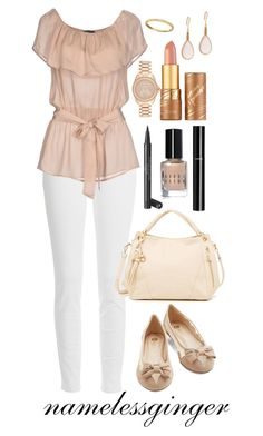 """KM 5"" by namelessginger ❤ liked on Polyvore featuring Paige Denim, GUESS by Marciano, Moda Luxe, Chanel, Bobbi Brown Cosmetics, tarte, Demitasse and Michael Kors"