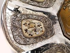 Japanese carved ivory and shibayama table screen netsuke pinterest