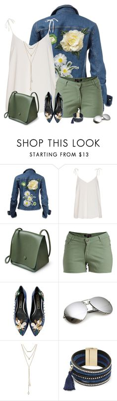 """""""Floral denim"""" by csilla06 ❤ liked on Polyvore featuring 1826 JEANS, Marc Jacobs, SUGARFIX by BaubleBar and Design Lab"""