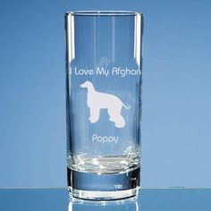Afghan Hound Dog Lover Gift Personalised Highball Glass Engraved Birthday