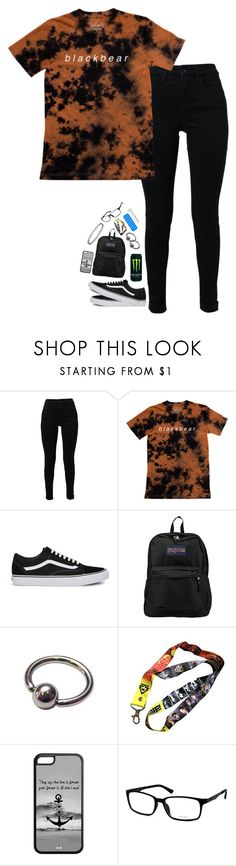 """""""Nobody thinks what you think"""" by xxghostlygracexx ❤ liked on Polyvore featuring J Brand, Vans, JanSport and POLICE"""