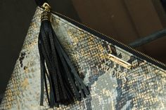 New In: Gigi New York Personalized Embossed Python Leather Clutch  http://www.withorwithoutshoes.com/2014/11/bolso-clutch-gigi-new-york-uber-personalizado-iniciales.html  #gigi #giginewyork #newyork #leather #bag #clutch #python #gold