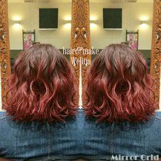 🍒Cherry red🍒 切りっぱなしボブ  赤やピンク、バイオレット系のカラーにチェンジする方が増えています❤ モノトーンの服装にもデニムにもあいますね🙆  個人的にも大好きな色です😍  ありがとうございます✨  #cherryred #redhair #rihanna #redviolet #haircolor  #bob #lob #hairstyles #ombre #グラデーション #チェリーレッド #レッドバイオレット #ヘアカラー #切りっぱなしボブ #ボブ #ロブ #hairsalon #Welina #hitomiyanagida #myworks #お客様photo