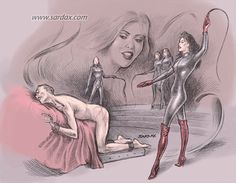 Female domination sketches