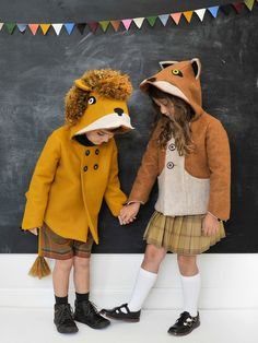 Ferocious Lion Coat and Fantastic Fox coat littlegoodall