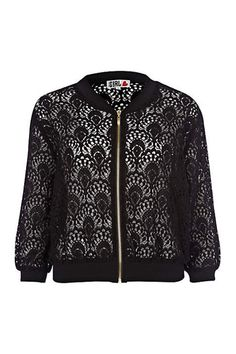 Black lace chelsea girl bomber jacket - River Island - to add a further modern twist on Baroque, you can't go wrong with this lace bomber. Cool Bomber Jackets, Girls Bomber Jacket, Cute Jackets, Jackets For Women, Chelsea Girls, Blazers, Lace Blazer, Warm Weather Outfits, Winter Fashion