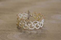 The Kim and I (Tatting Lace): Tatting Lace Free pattern- Puffy Fluffy bracelet #tatting #jewelry