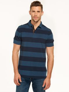Image for Pique Stripe Polo from Just Jeans