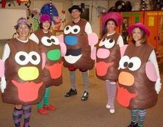 The Potato Heads | 31 Amazing Teacher Halloween Costumes
