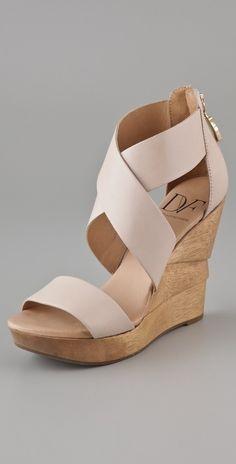 Diane Von Furstenberg Opal X Cross Wedge Sandals thestylecure.com