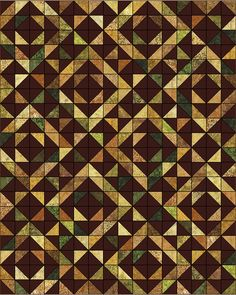Lets Quilt Something: Georgia Barn - Free Quilt Pattern - Using 4 charm lacks or 1 layer cake of batiks and background. HST quilt nicely made with brown background for a change. 2 blocks alternate.