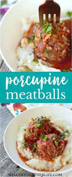 Classic Porcupine Meatballs are tender beef and rice meatballs that simmer in a rich, savory tomato sauce! This hearty dish is one of our favorite comfort food dishes!