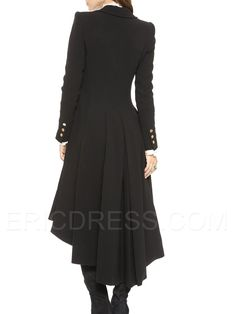 Ericdress Long Swallowtail Trench Coat Clothing