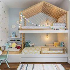 Bunk Bed Designs, Girl Bedroom Designs, Room Ideas Bedroom, Home Decor Bedroom, Kids Bedroom, Home Room Design, Kids Room Design, Dream Rooms, Dream Bedroom